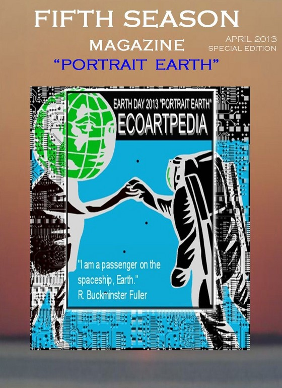 book huggers, ecoartpedia, magazine, earth day 2013, portrait earth art,